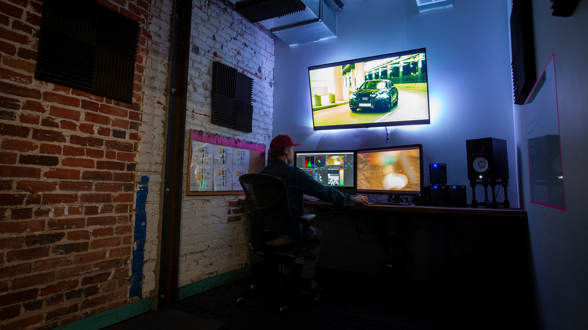 Level 1 Film and Video Production Company Editing Room Director Josh Berman Denver Colorado Photo 16x9